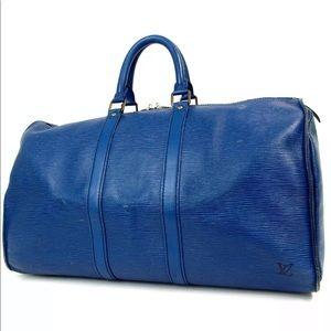 LOUIS VUITTON Epi Keepall 45 Travel Duffle Bag